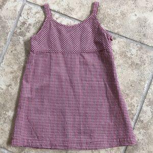 GAP Red Gingham Dress, Size XXS